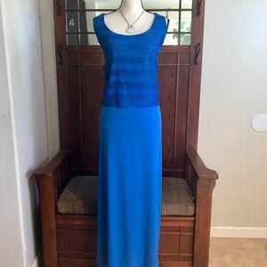 NY Collection Layered Maxi Dress